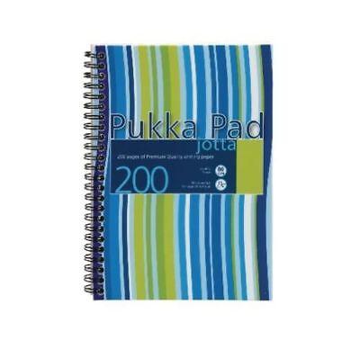 A5 BLUE Stripes Jotta Notebook 200 Pages Wirobound Jotter Pad Office New JP021