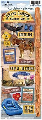PAPER HOUSE GRAND CANYON TRAVEL VACATION ARIZONA CARDSTOCK SCRAPBOOK STICKERS