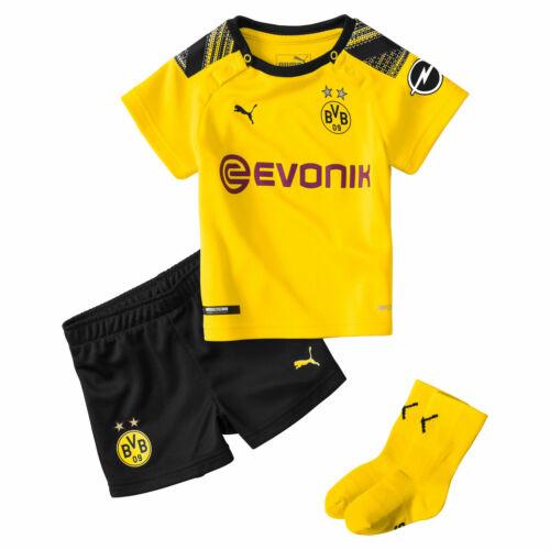 Puma Official Kids BVB Borussia Dortmund Home Football Baby Kit 2019-20