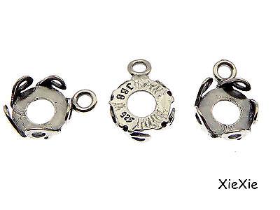 XieXie 50 St/ück Ohrstecker Rohlinge mit Cabochons 8mm zum Basteln