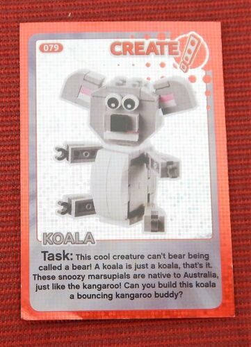 Sainsbury/'s Lego Cards Create The World #79 Koala