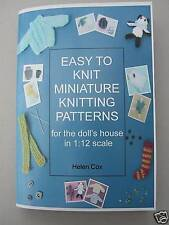 MINIATURE KNITTING PATTERNS for the dolls house 1:12 scale by Helen Cox BOOK 1