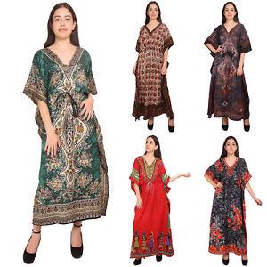 48f7b1c677a Indian Women Dress Lot Of 5 Long Kaftan Nightwear Night Dress Caftan ...