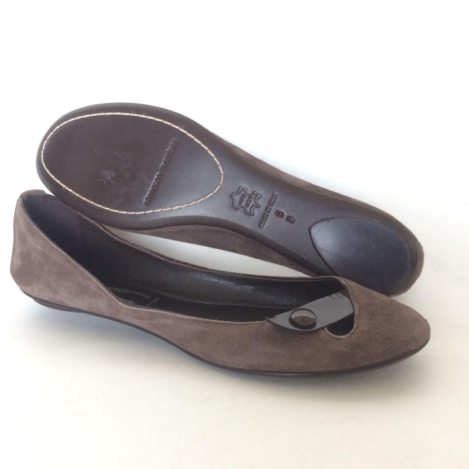 Belle Sigerson Sigerson Sigerson Morrison Womens Brown Suede Leather Ballet Flats Size 6  8ef741