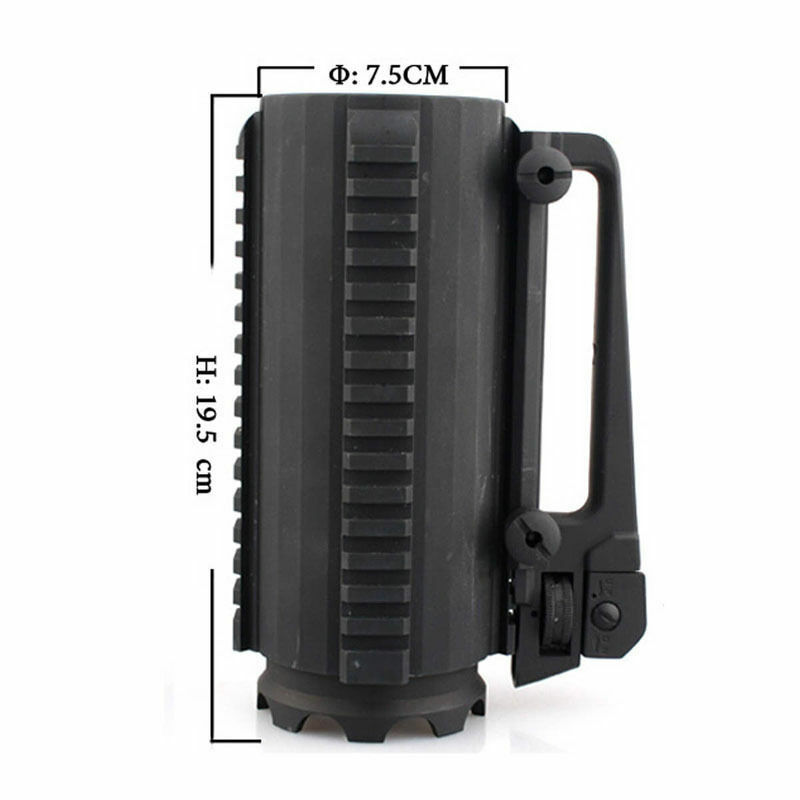 Tactical Military Multifunction Aluminum Detachable Carry Battle Rail Mug Cup