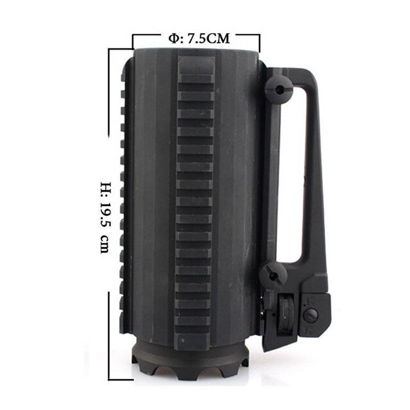 Outdoor Multifunction Metal Alloy Mug Mug Alloy Detachable Carry Rail Cup Fit 20mm Rails 657993