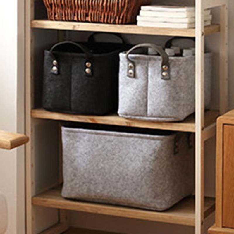 No Felt Storage Basket Clothes Toys Portable Laundry Bag Organizer Shelf Box Uk 4 Of 10