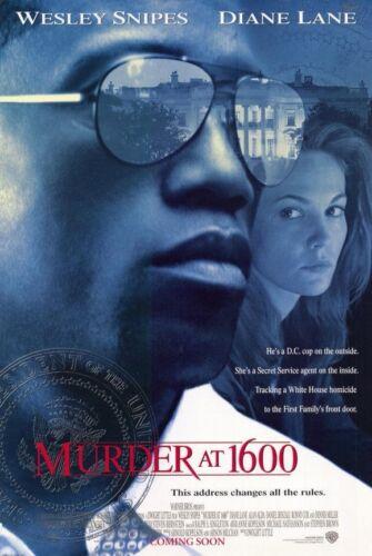 MURDER AT 1600 MOVIE POSTER 2 Sided ORIGINAL 27x40 WESLEY SNIPES DIANE LANE