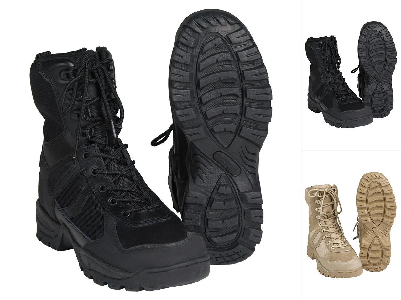 Mil-Tec Stiefel Patrol One Zip Schuhe Wanderschuhe Lederstiefel Boots 39-46