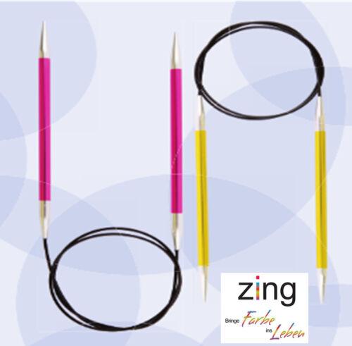 KnitPro rundstrick aiguille zing aluminium coloré enduit toutes les tailles NEUF