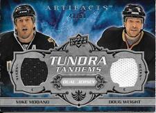 08/09 Artifacts Tundra Tandems Silver Mike Modano Doug Weight Dual Jersey #41/50