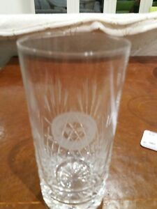 Lovely cut glass tumbler engraved 034Torbay Motor Club 1st in Class034 vgc - Ilminster, United Kingdom - Lovely cut glass tumbler engraved 034Torbay Motor Club 1st in Class034 vgc - Ilminster, United Kingdom