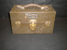 Vintage 1910's Kennedy Kits Tackle Fishing Box Leather Handle