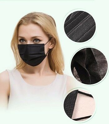 masque protection jetable noir