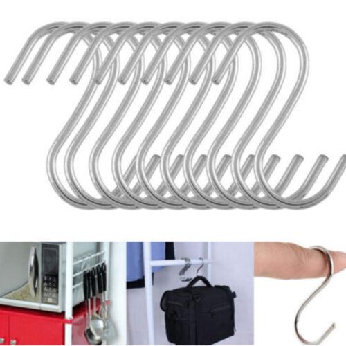 Lot 10pcs Stainless Steel S Design Kitchen Spoon Pan Pot Hanging Hooks Holder