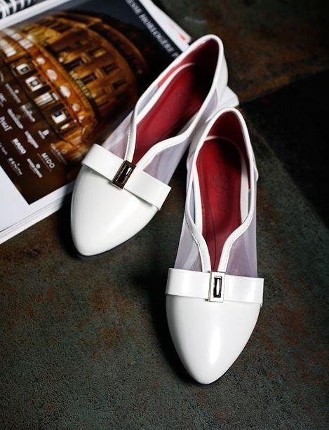 Bailarinas mocasines zapatos zapatos mocasines  de mujer pan de la tierra blanco talón 1 cm cómodo 04e651