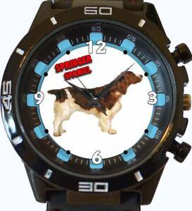 epagneul-Springer-NEUF-GT-Serie-Sport-Unisexe-cadeau-montre