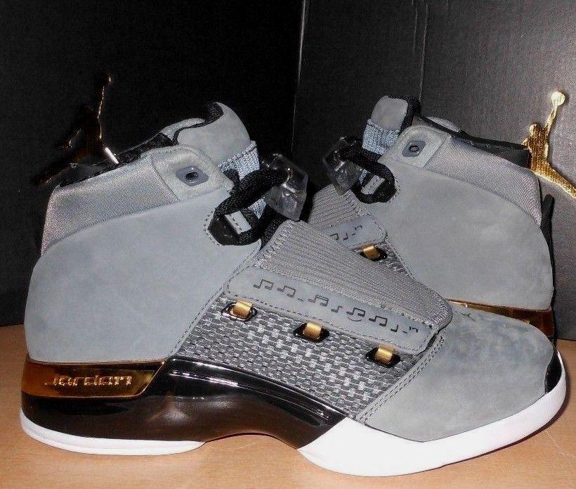 Nike air jordan sz 7 17 xvii retrò sala trofei, scarpe nuove ah7963-023 grey / rare