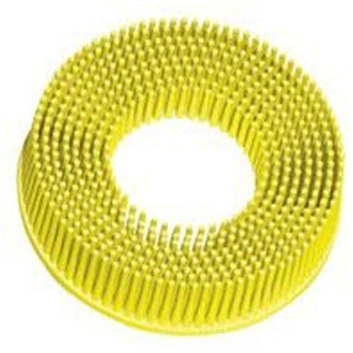 """3m 07525 2/"""" Scotch-brite Roloc Bristle Discs 80 Grit Medium Yellow"""