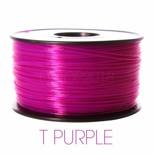 Premium 3D Printer Filament 1kg//2.2lb 1.75mm 3mm PLA ABS PETG TPU Wood MakerBot