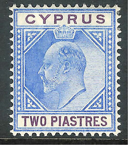 Cyprus-1902-blue-purple-2pi-crown-CA-mint-SG53