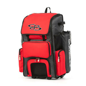 Boombah Superpack 2.0 Rolling Wheeled Softball Bat Cleats Gear Bag Pack//Backpack