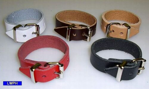 4 White Leather Straps Buckle 20,0 x 1,1 cm Wide Fixing Band