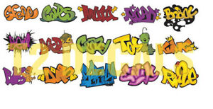 HO Scale Custom Graffiti Decals #5 - Weather Your Box Cars, Hoppers, & Gondolas!