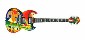 Eric Clapton S Gibson Sg Fool Greeting Card Dl Size Ebay