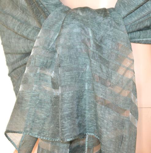 ... STOLA VERDE scialle 50% seta maxi foulard donna coprispalle sciarpa  elegante A26 9909787ff39f