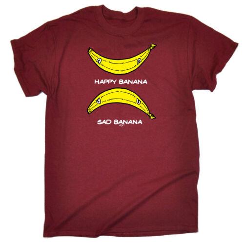 Divertenti Novità T-Shirt UOMO Tee T-Shirt-Happy Banana TRISTE Banana