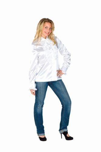 FFF Damen Kostüm Rüschenhemd in weiß Karneval Fasching Party
