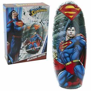 Dc-Comic-Superman-Aufblasbar-Bopper-80cm-Bop-Tasche-Punch-Boxen-Kinder-Spiel-069
