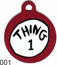 Cute Custom Personalized Pet ID tag for Dog and Cat Collars unique Tags Thing 1