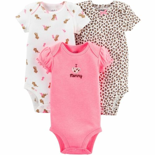 Child of Mine by Carter/'s Baby Girl Bodysuits 3 pack