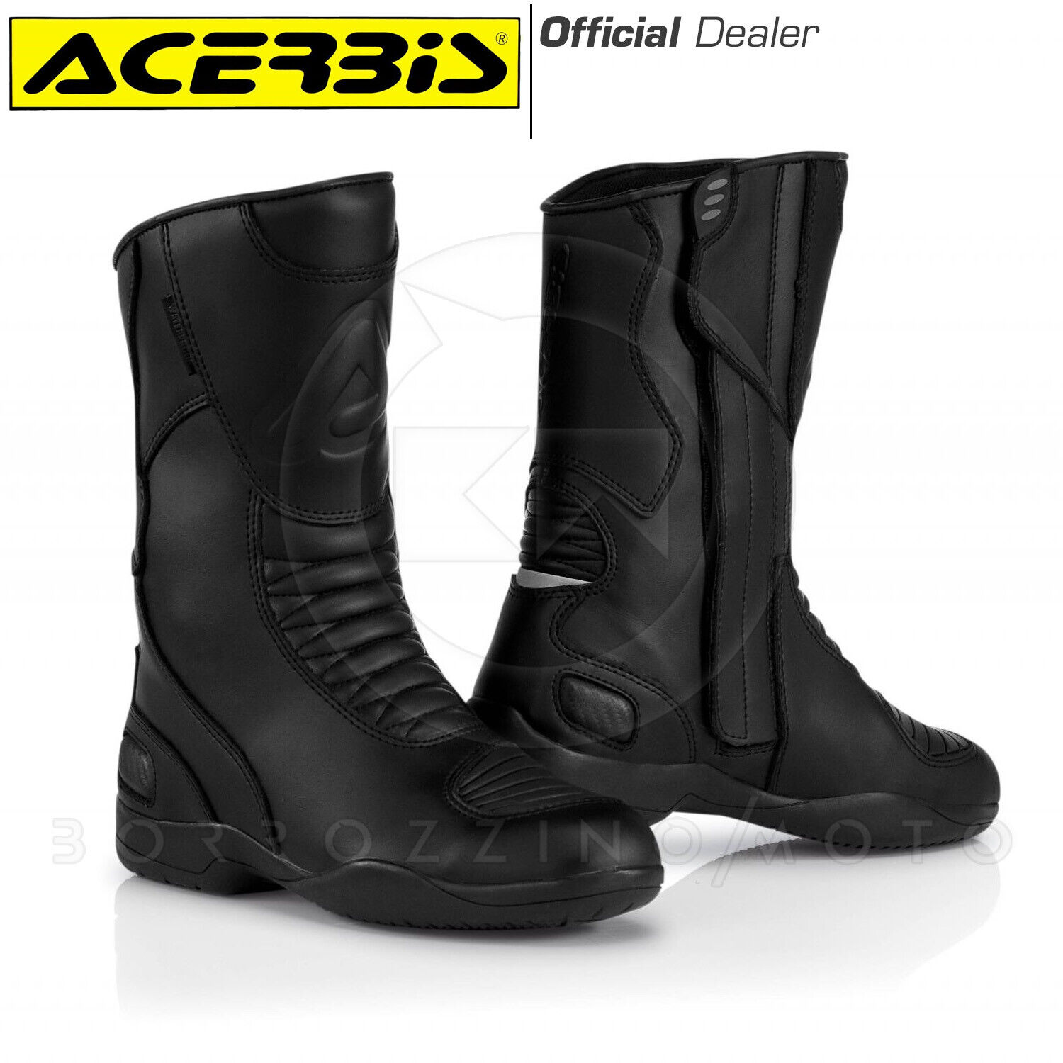Boots Boots Motorcycle Touring Road Leather Jurby Acerbis Black Size 41