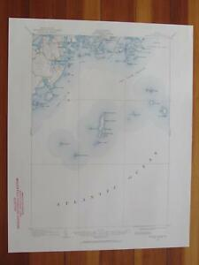 Tenants Harbor Maine Map.Tenants Harbor Maine 1960 Original Vintage Usgs Topo Map Ebay