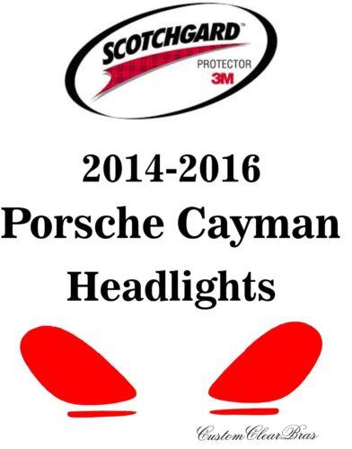 3M Scotchgard Paint Protection Film Clear Pre-Cut 2014 2015 2016 Porsche Cayman