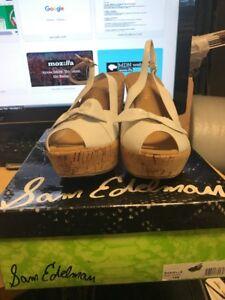 14ef74610d024c Sam Edelman Women s Danielle Patent Leather WEDGE HEELS NEW IN BOX ...