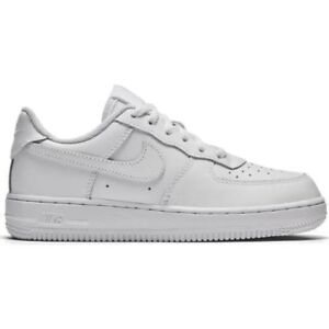 Dettagli su Scarpe Nike Air Force 1 (PS) 314193 117 Bambinoa Bianco Sneakers Sportiva Nuovo