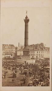 Francia Parigi Istantanea Bastille Foto Formato CDV N Vintage Albumina Ca 1860