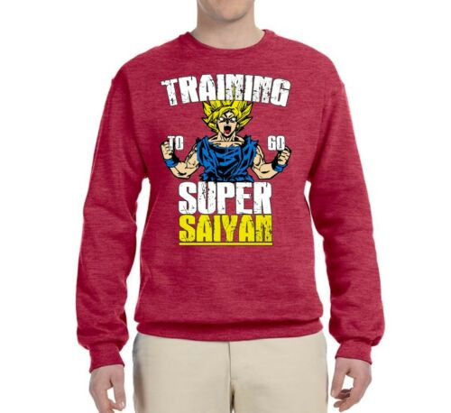 Training To Be Super Saiyan Mens DBZ Crewneck Sweatshirt Goku Sweater