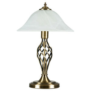 Traditional antique brass barley twist table lamp frosted image is loading traditional antique brass barley twist table lamp frosted mozeypictures Choice Image