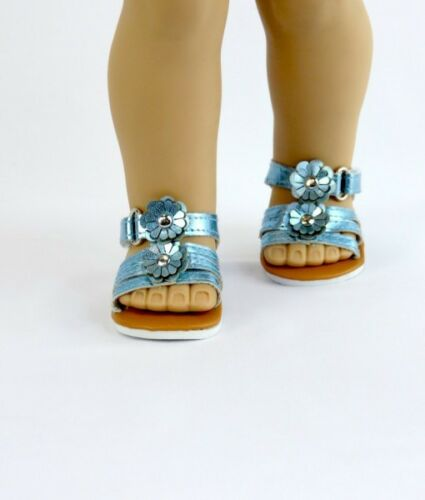 "18/"" Doll Shoes Metallic Flower Sandals fits 18/"" Doll Sandals 3 Colors"