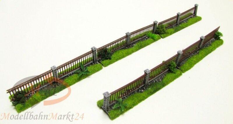 Terreno recinzione di metallo-Set 5 pezzi lavoro a mano adatto per traccia 0 1 43 - NUOVO