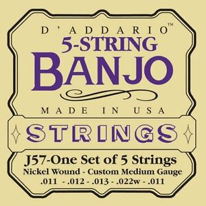D-039-Addario-EJ57-5-String-Banjo-Strings-Nickel-Custom-Medium-11-22