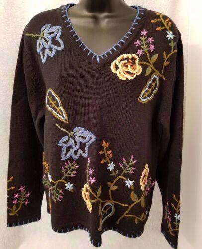 Womens i Top Sweater Size riferimento Floral Tutti Multi Color Nwt punti per punto L di 7Hpx0qdZ