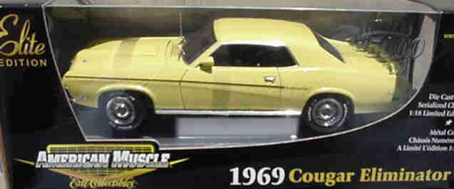 1969 cougar einrichtung gelb 1,18 ertl amerikanische power 33685
