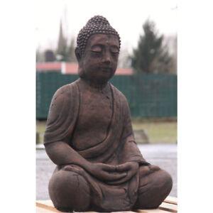 Antik buddha patiniert gro aus steingu f r koi teich - Buddha fur garten ...