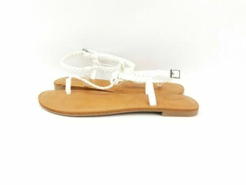 Pick Size Details about  /Universal Thread Women/'s White//Larissa Braided Ankle Wrap Sandals